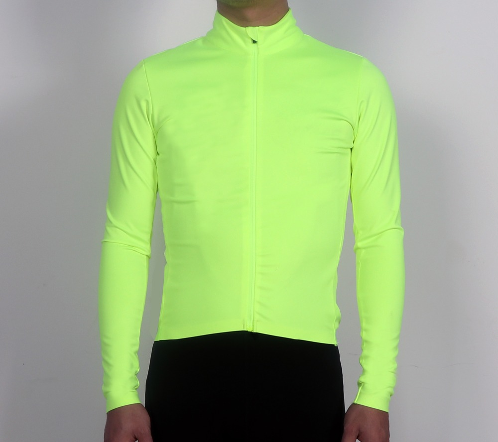цена на SPEXCEL New Fluorescent green 3 layer fabric pro team Windproof and rain protection Cycling Jersey long sleeve cycling jacket