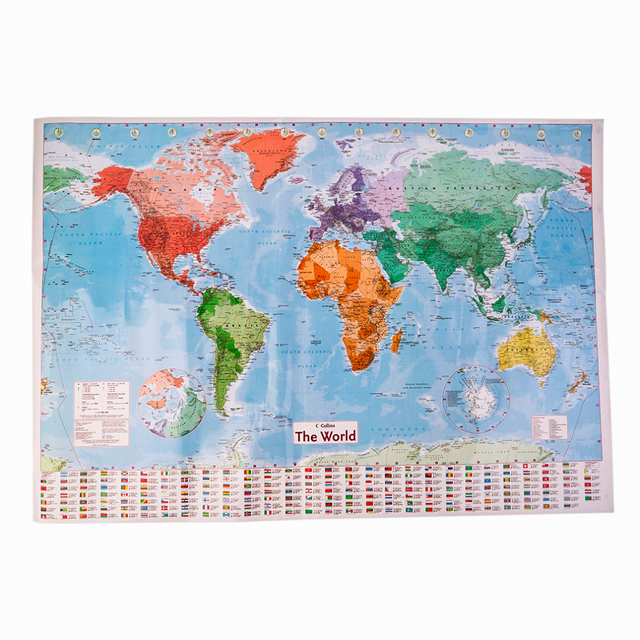 New Arrival Large World Map Home Decoration Detailed English Wall ...