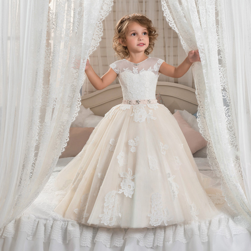 Kids Gown Dress 2018 New Flower S Dresses Trails Evening Party Children Royal Costume For First Communion D91 In From Mother
