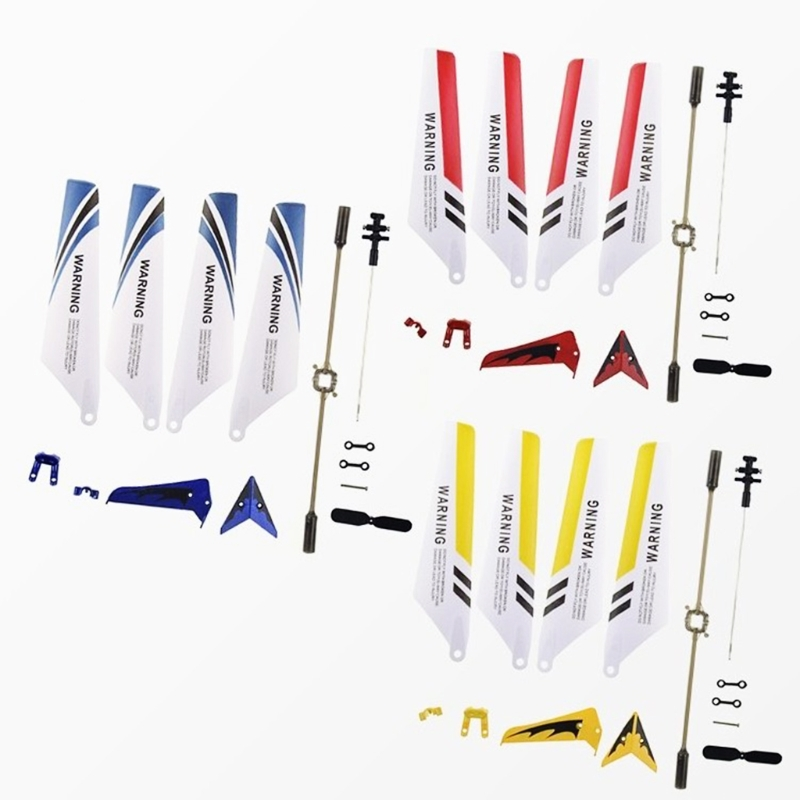 Colorful Syma S107G S107 RC Helicopter Spare Parts Main Blades, Tails, Props, Balance Bar, Shaft, Replacement Gear Accessories 3 7v 180mah lipo battery for syma s105 s107 s107g s109 s107 19 for skytech m3 3 7v 180mah 1s li po battery 3 7v helicopter part