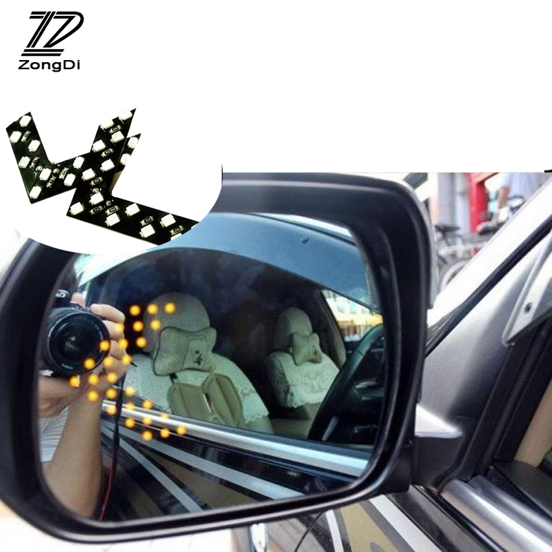 ZD 2pcs/set Car Signal Turning H7 Light Rear Mirror Stickers For Mercedes W203 W211 W204 W210 Benz BMW F10 E34 E30 F20 X5 E70