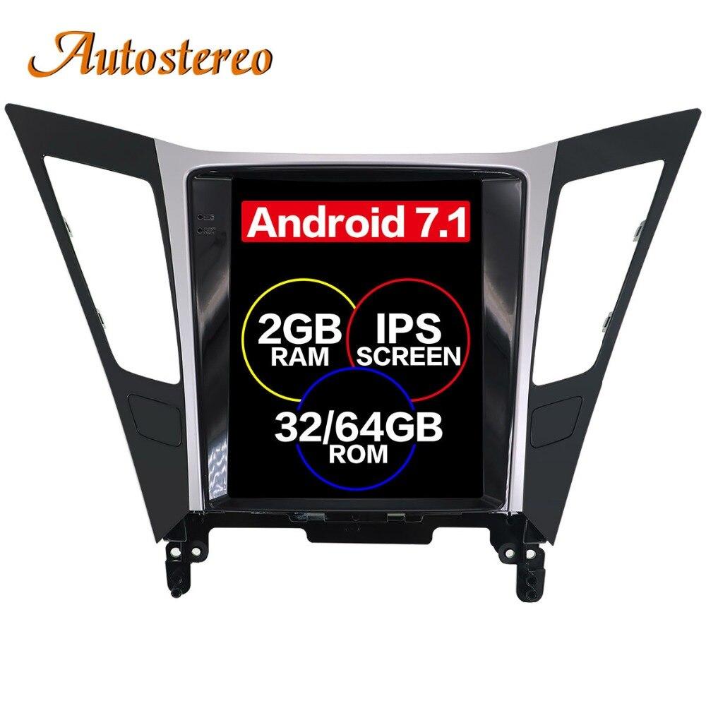 Tesla стиль Android автомобильный gps навигация автомобиля нет DVD плеер для hyundai Sonata 2012 2014 2013 стерео блок мультимедиа Satnav