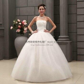 2019 Hot Sale Sweetangel White Princess Fashionable Lace Wedding Gowns Romantic Cheap Bride Wedding Dress 268 vestito da sposa
