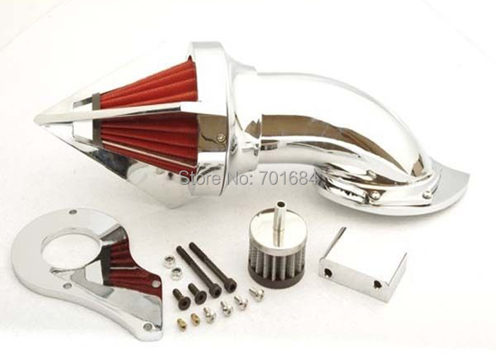 Wotefusi Spike Air Cleaner Kits For Honda Shadow 600 VLX600 VLX Chrome[MP44] aftermarket motorcycle parts spike air cleaner kits intake filter for honda shadow 600 vlx600 1999 2012 chromed