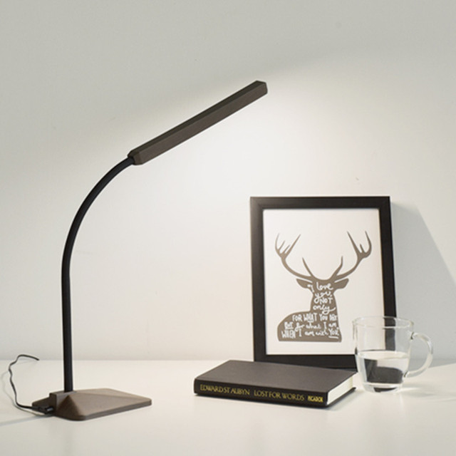 Modern Led Desk Lamp Eye Protection Table Dimmer Touch Control Flexible Bedside Reading Study Office