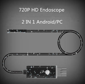 1 m 2 m 7 MM Lens Android/PC 720 P HD Endoscope Tube 2 IN 1 With 6 LED