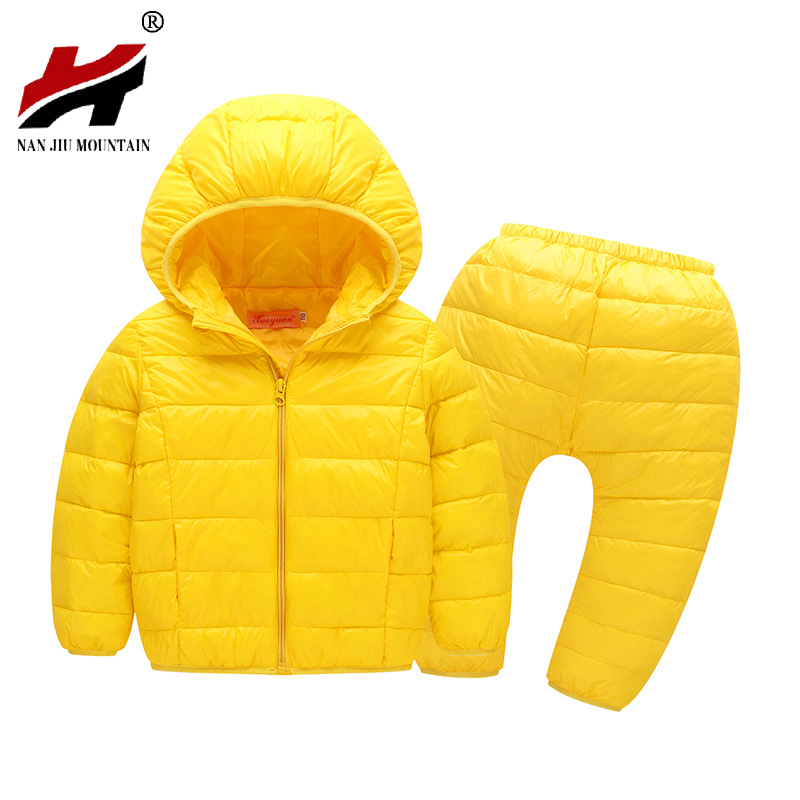 Autumn And Winter New Children 's Clothing Ultra - thin Section Of Children' s Cotton Jacket Jacket Boys And Girls Baby Two Sets 2017 new children and adolescents autumn