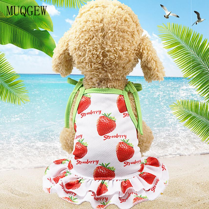 4e3d5776fcdee pet clothes For Small Dog Summer Dog clothing dress Princess Lovely  Strawberry Pineapple Dog Dresses chihuahua