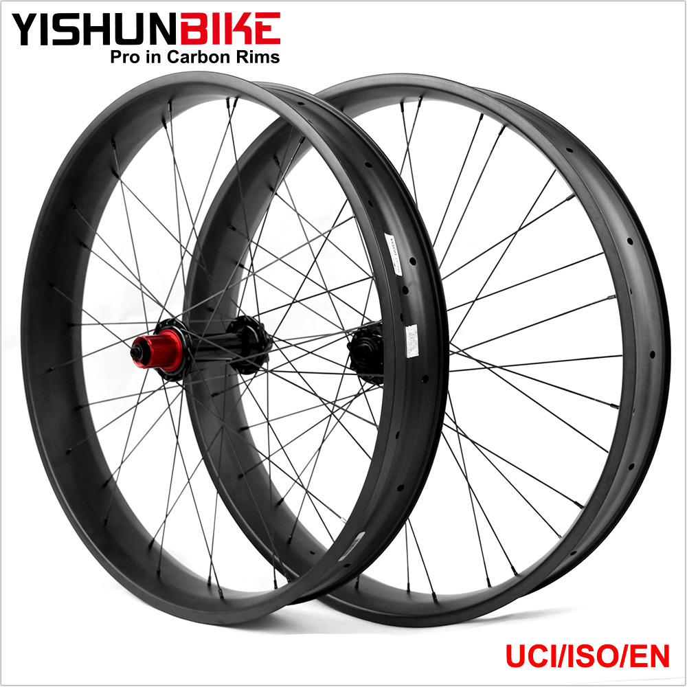 26er 85mm width clincher/TLR light Carbon Fat Bike Wheels Snow Bike wheelset FATBIKE26 85C