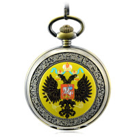 Russia National Emblem Memorial Retro Automatic Mechanical Pocket Watch Men S Watch Hollow Key Chain Clock