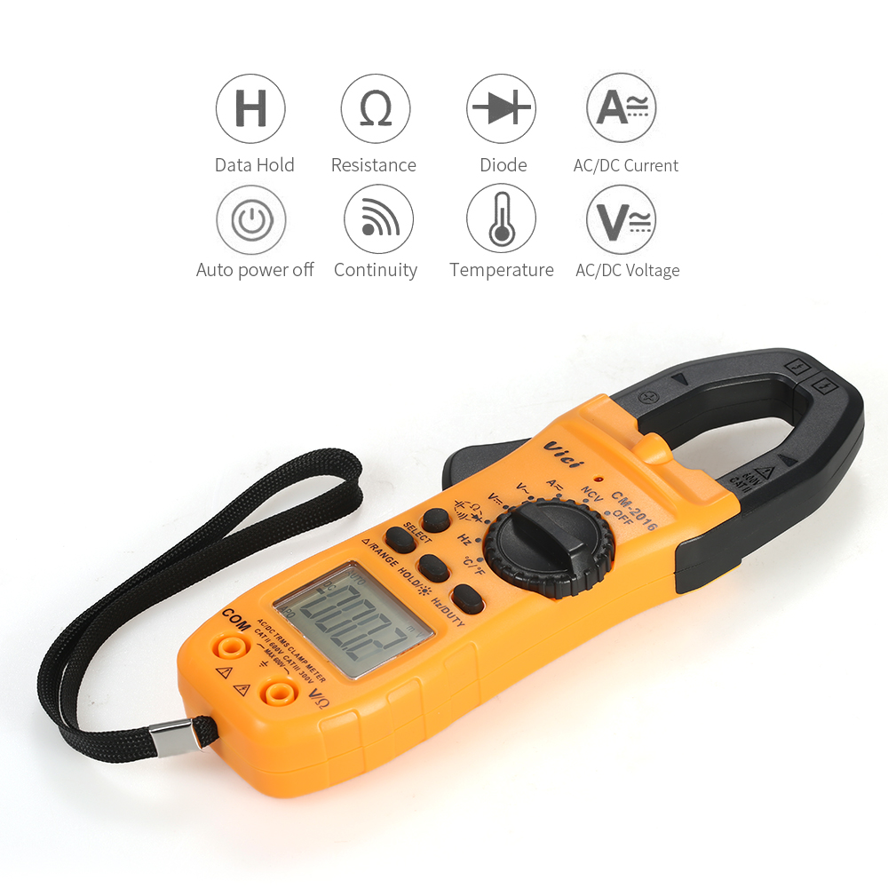 Digital Clamp Meter Multimeter Ac Dc Voltmeter Ammeter Voltage Pic Diode Tester Current Capacitance Temperature Resistance In Meters From Tools On