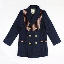 Зимой дети верхняя одежда мальчиков свободного покроя пальто дети двубортный пальто длинные дизайн опрятный стиль верхней одежды 4C0727