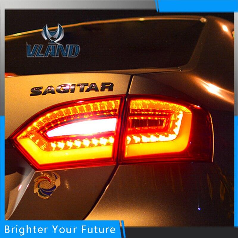 Сборка задних фар светодиодные LED задние фонари на 2012-2013 Фольксваген Нью-sagitar /Jetta МК6 светодиодный тормозной сигнал свет