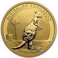 2012 Australia canguro 1 Troya Oz. Chapado en monedas 1,5 gramos. 999 oro fino