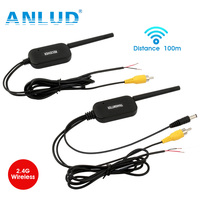 ANLUD 2 4G Wireless Video Transmitter Receiver Kit For Car Bus Rear View Camera DVD Monitor