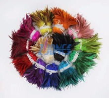 Wholesale  900pcs/bundle Beautiful Rooster feathers 5-6/12.5-15cm Chicken Feather Strung for Dress Decoration