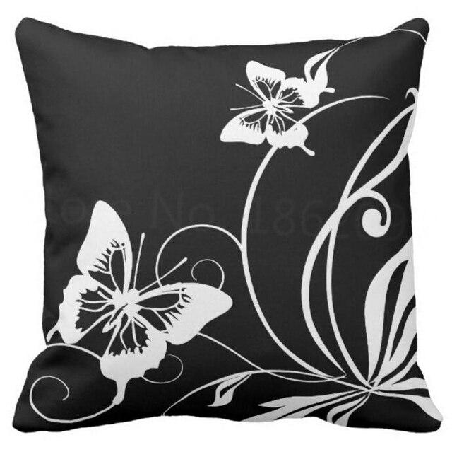 Modernen Schwarz Weiß Schmetterling Dekokissen Fall Fashion Schmetterling  Kissenbezug Geschenke Schmetterlinge Room Decor Platz Kissen Sham
