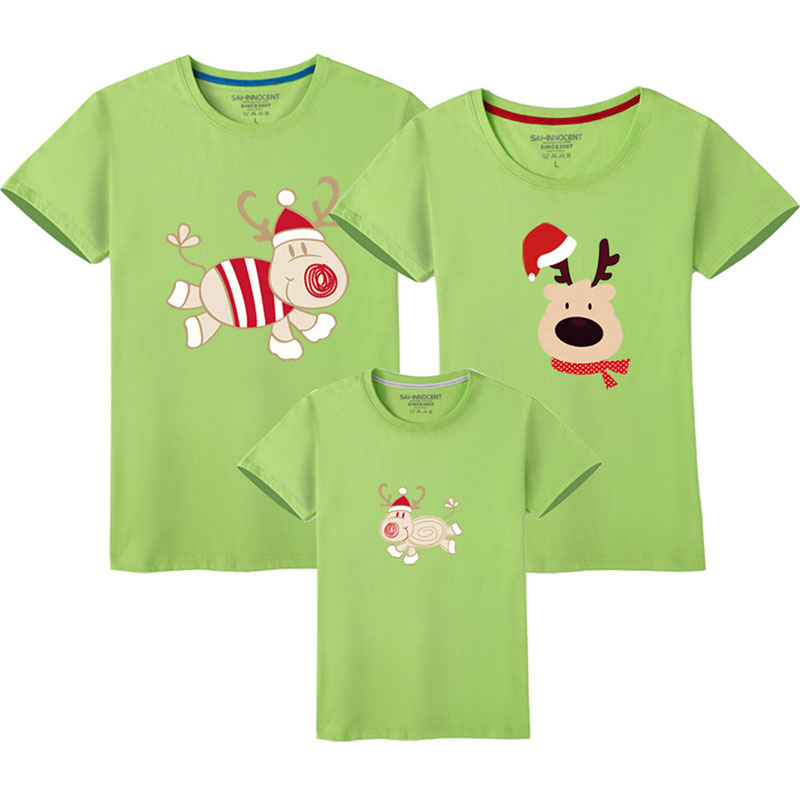 HTB1WbD0UQPoK1RjSZKbq6x1IXXax - Father Son Clothes Family Look Christmas Family Matching Outfits T Shirt Mother Daughter Short Sleeve Dad Mom Baby Family Suit