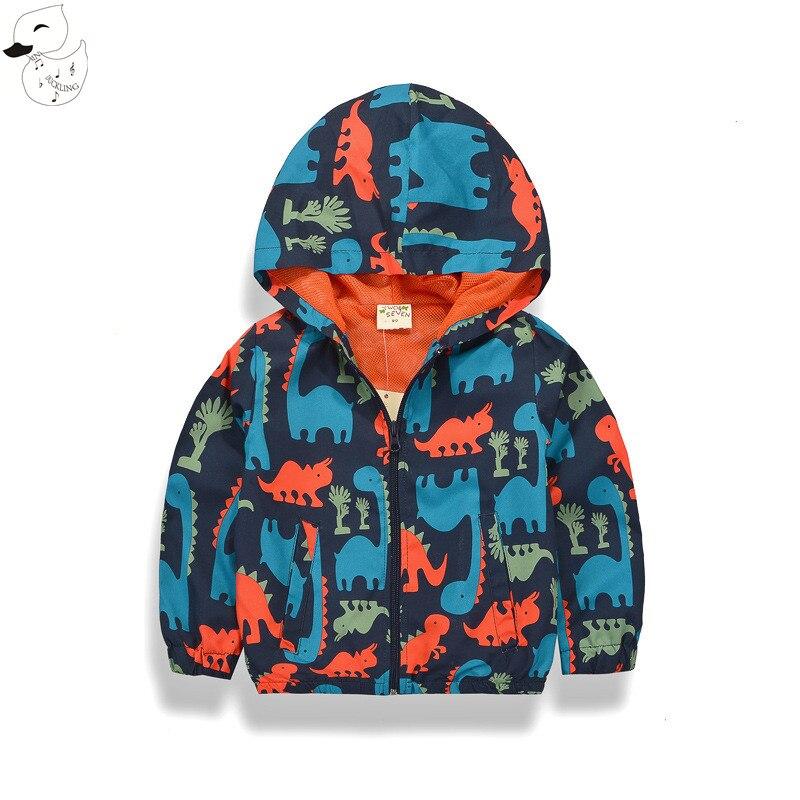 Biniduckling куртка для мальчиков Детское пальто с капюшоном дети Повседневное Кофты на молнии Куртки для Обувь для мальчиков Водонепроницаемый ...