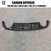 Carbon Fiber Rear Bumper Diffuser for VW Golf 6 MK6 R20 Bumper Only 2012 2014 ( Only Fit R Bumper, not Fit Standard & GTI )