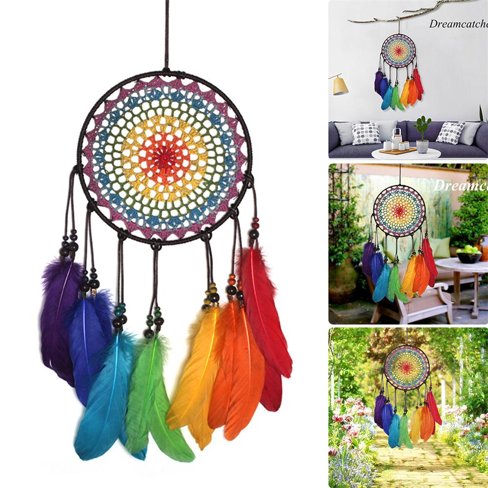 Handmade Ornaments Wind Chimes Feather Dream Catchers For Gifts Wedding Home Garden Bedroom Outdoor Decorations