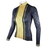 PALADIN Classic Dark Grain Womens Long Sleeve Cycling Jersey Bike Shirt Cycling Clothing