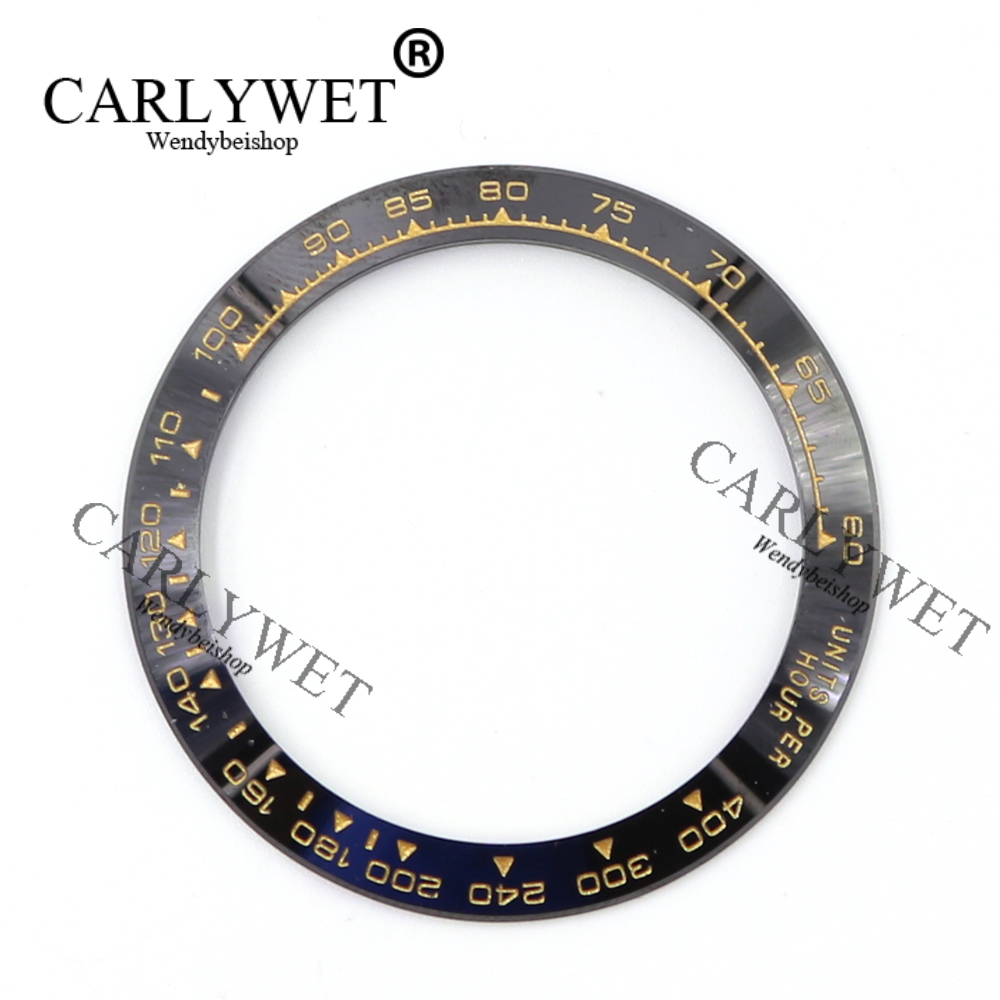 Wholesale High Quality Ceramic Black with Gold Writing Watch Bezel for 116500 - 116520