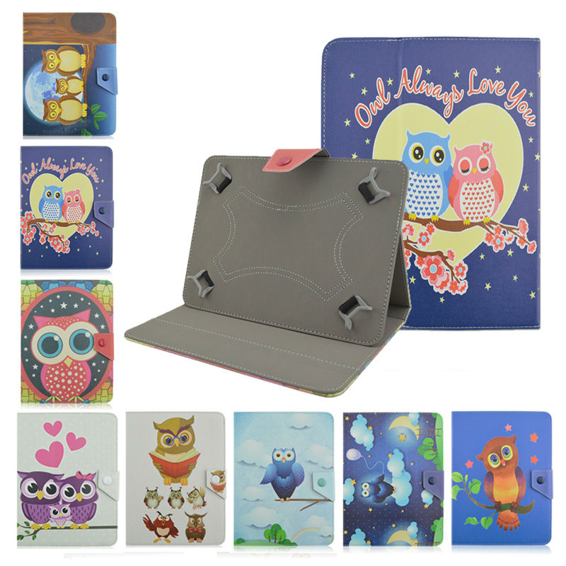 table accessory Universal 7 inch Cover Case OWL Series  Flip PU Leather Case For BQ 7002G 7.0 Tablet PC Accessories+screen film