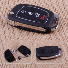 CITALL 4 Buttons Car Remote Flip Key Fob Case Shell Replacement Fit For Hyundai Santa Fe