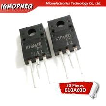 50 قطعة K10A60D TO 220F TK10A60D TO 220F 10A60 TO220 جديد الأصلي