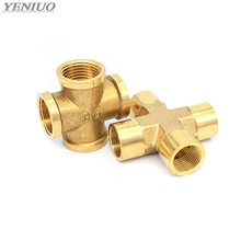 Brass Pipe Fitting 4 Way Connector Cross 1/4 3/8 1/2 male Thread Copper Barbed Coupler Adapter Coupling blanchard nicolas copper mediated cross coupling reactions isbn 9781118690680