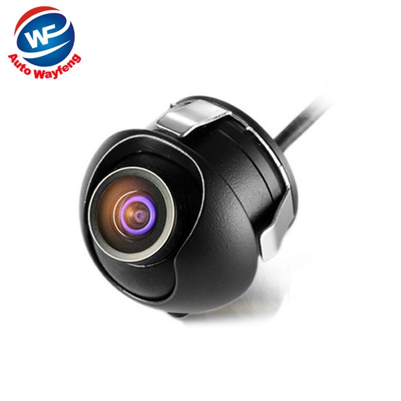 imágenes para HD CCD de visión nocturna de visión trasera cámara frontal vista al lado de retroceso Cámara de visión trasera del monitor para 360 grados de Rotación Universal cámara WF