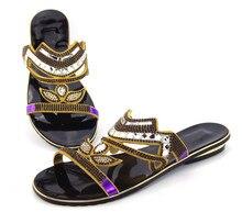 Gute qualität Afrikanischen sandalen für party, neueste muster damen schuhe für freies verschiffen!! DD1-68