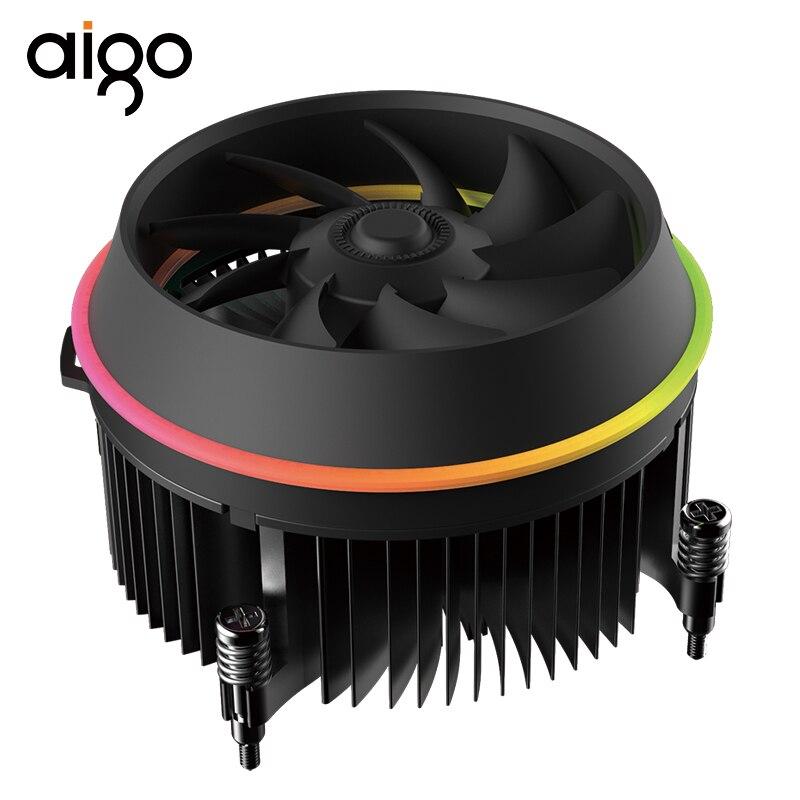 Aigo Shadow  CPU RGB Radiator Cooling Cooler 100mm  4Pin LED RGB Fan  Heatsink Master Radiator CPU Cooler PC CPU Fan AluminumAigo Shadow  CPU RGB Radiator Cooling Cooler 100mm  4Pin LED RGB Fan  Heatsink Master Radiator CPU Cooler PC CPU Fan Aluminum