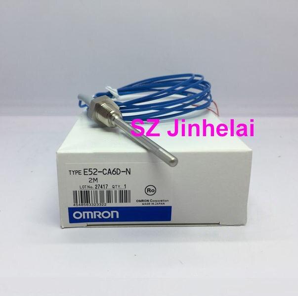 Authentic original OMRON Thermocouple E52-CA6D-N 2M Temperature probe new original original k sensor e52 ca15ay