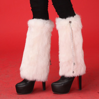 2015 Retail cuffs leg warmers boot socks Women plush real rabbit Fur Fashion Ankle Warmer multicolors Leg Shoes Sleeves Cover