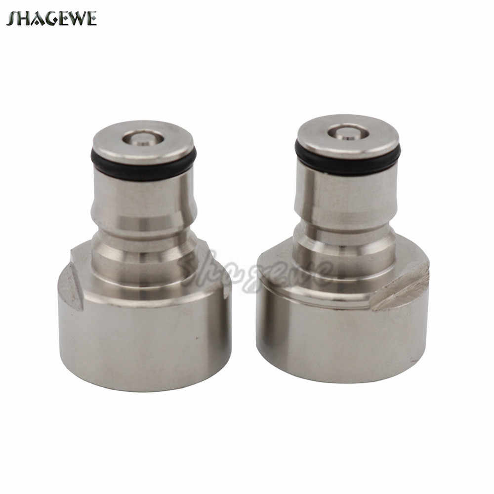 Beer Brewing Carbonation Cap Ball Lock Post for Keg Coupler Adapter 5/8'' Thread Ball Lock Quick Disconnect Conversion Kit