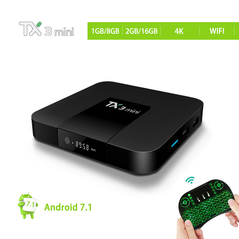 все цены на Tanix TX3 Mini TV Box Android 7.1 Amlogic S905W 2.4GHz WiFi Smart TX3 Mini Set Top Box 1GB/8GB 2GB/16GB Support 4K Media Player
