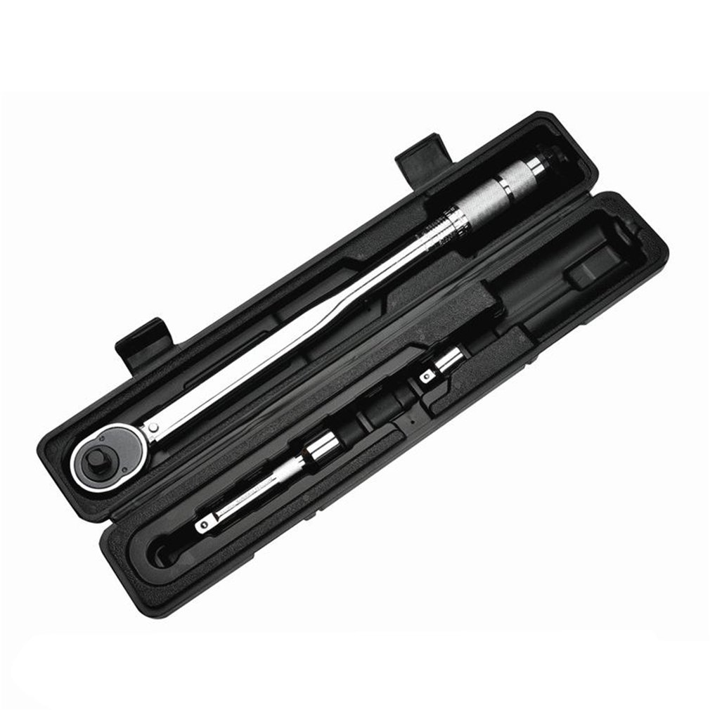 1/2 Inch 28 to 210nm Click Adjustable Torque Wrench Bicycle Repair Five Tools kit Set Bike Repair Tool Spanner Hand Tool Sale gub hin 181 portable bicycle stainless steel repair tool kit wrench set black