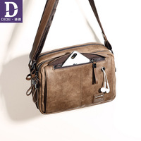 DIDE 2018 Fall / Winter Men's Bags Small Ipad Male Satchels Messenger Bag Men Shoulder Crossbody Bags short travel handbags bags