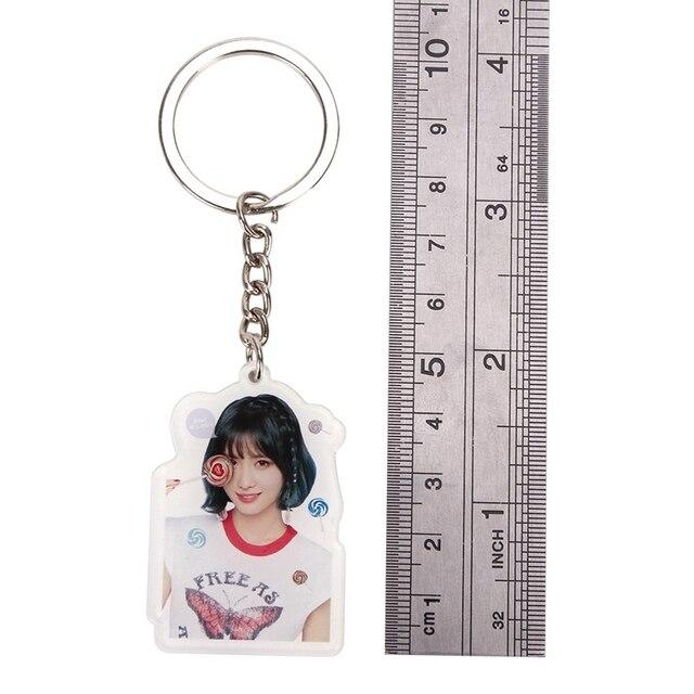 Kpop TWICE What Is Love Album Acrylic Keychain Mina Sana Cute Keyring Key Chain Pendant