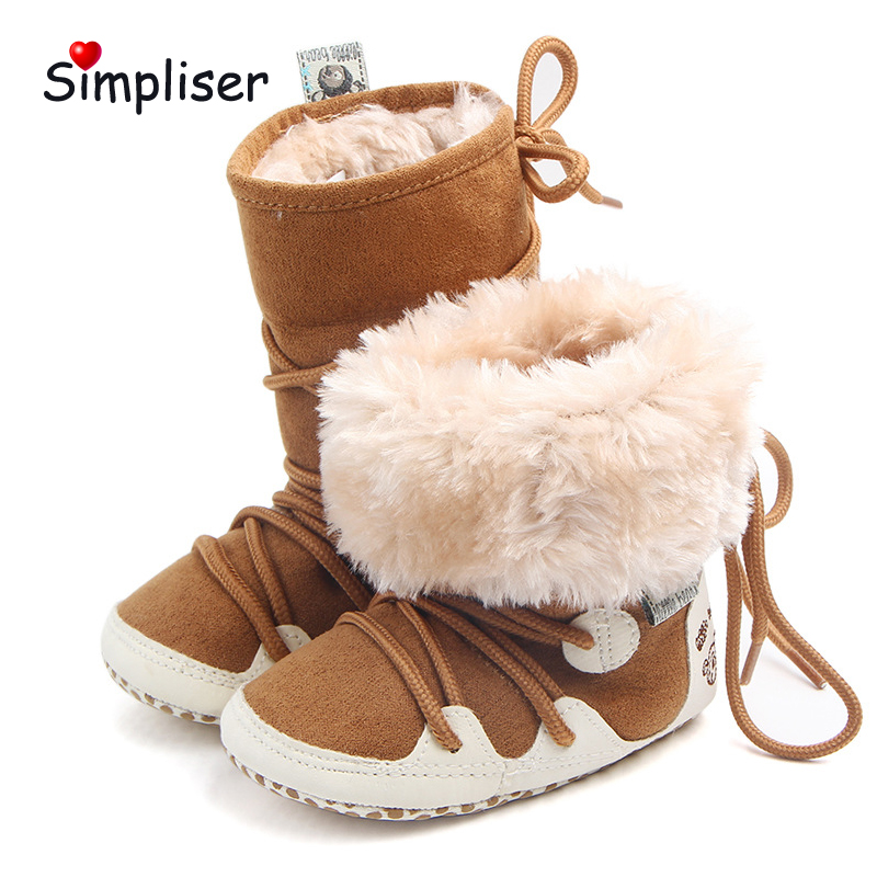 Baby Snow Boots Thicken Plush Warm Winter Shoes Foe New Born Baby boys girls 2018 Infant ...