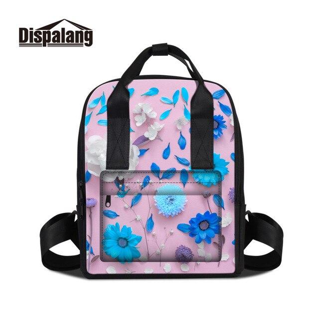 Dispalang Backpack For Women Bag Flower Print Ladies Pad Travel Backpack  Mochila Feminina Girls School Bags For Teenagers 3e0ebc0045fdd