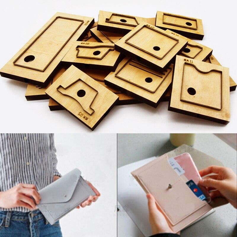 Artisanat cuir bricolage femmes sac de téléphone portable porte-carte enveloppe forme découpe couteau moule main poinçon outil modèle