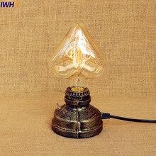 IWHD Vintage Loft Industrial Table Lamp Creative Water Pipe Edison Desk Beside Lamp LED E27 Switch Lamparas De Mesa футболка nike nike ni464ebdsld9