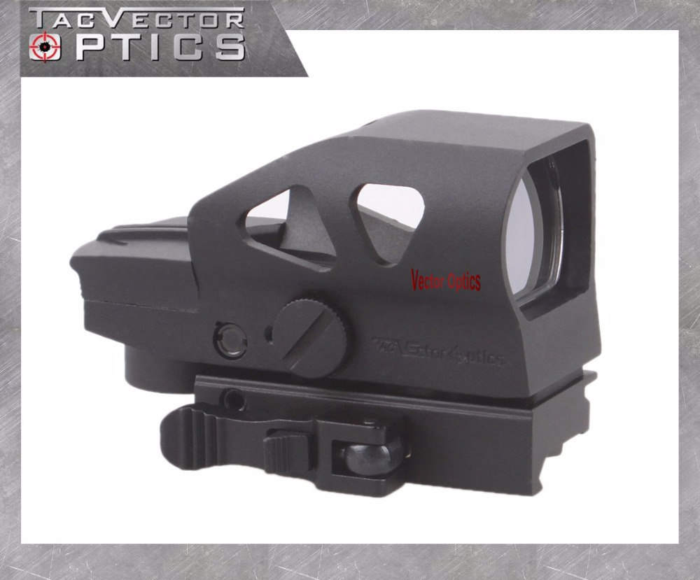 все цены на  Vector Optics Gen2 Ratchet 1x23x34 Hunting Red Green Dot Scope 4 Reticle Open Sight with Picatinny Mount for AK 5.56 12ga .308  онлайн