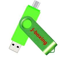 J-boxing OTG USB Flash Drive 128G 64G 32G 16G Cle USB 2.0 Stick otg Pen Drive Micro Smartphone Pendrive Storage USB Flash цена