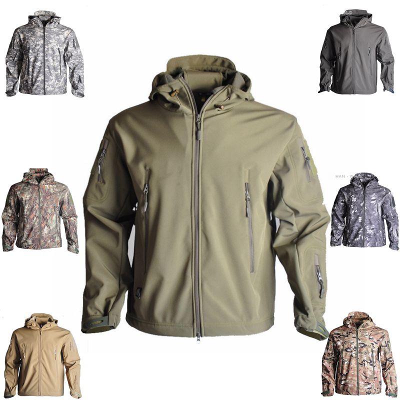 TAD veste Softshell extérieure hommes veste d'hiver hommes Camping randonnée chasse imperméable coupe-vent manteaux à capuche uniforme militaire