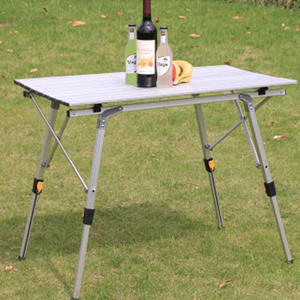 Folding Table Aluminium-Alloy Outdoor Camping Waterproof for 90--53cm
