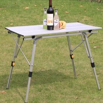 Mesa plegable para exteriores, mesa de Picnic de aleación de aluminio para...